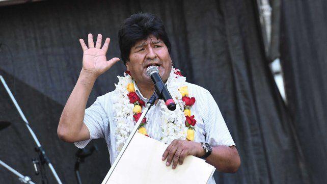 Evo Morales en Buenos Aires.