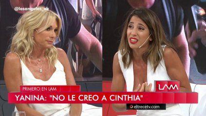 Yanina Latorre y Cinthia Fernández tuvieron una fuerte discusión por Nicole Neumann