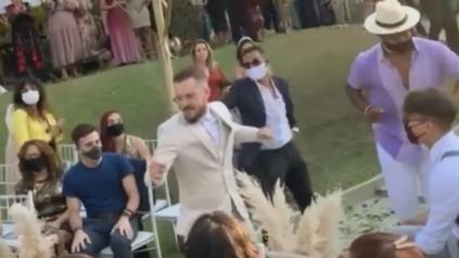 En Brasil, un novio sorprendió a su futura esposa con la complicidad de amigos.