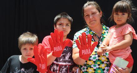 Fotos en serie para condenar la violencia contra las mujeres
