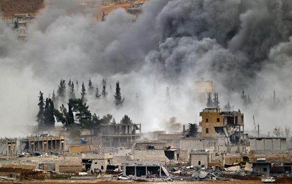 Las ruinas de Kobane en la zona de los peores combates y bombardeos.