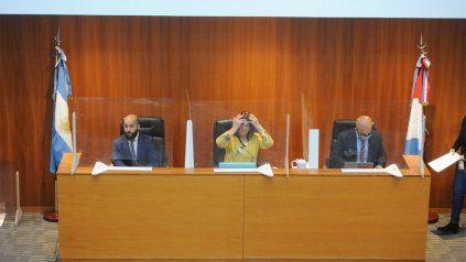 Pablo Pinto, Hebe Marcogliese y Rafael Coria, el tribunal a cargo del juicio por las balaceras.
