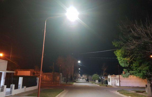 Iluminación. Las calles elegidas fueron Quebracho