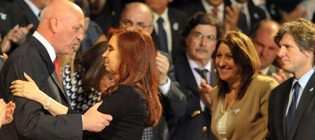 El gobernador y la presidenta en febrero de este año en el Bicentenario de la creación de la Bandera.
