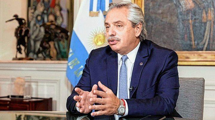 El presidente Alberto Fernández.