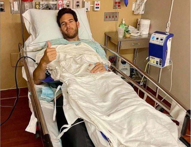 Del Potro pasó por la operación definitiva de su rodilla derecha