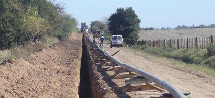 Iniciaron obras de un gasoducto en Carcarañá con millonaria inversión