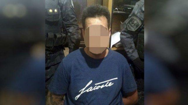 esposado. Colombini había sido apresado en Rosario en 2012 por la PSA