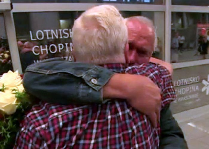 Los hermanos se reencontraron gracias al programa de la Cruz Roja de Restauración de Vínculos Familiares.