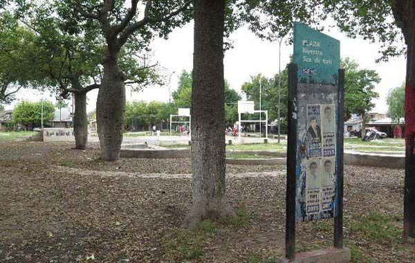 El episodio ocurrió a metros de la plaza Itatí y de una escuela.