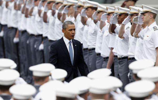 No a las guerras. Obama abogó en West Point por la moderación antes de lanzarse a nuevas aventuras militares.