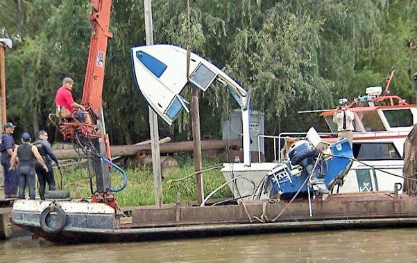 Trabajo. El operativo se desarrolló todo el día con embarcaciones de Prefectura