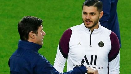 Mauro Icardi se puso a disposición del DT Mauricio Pochettino en las práctica de PSG.