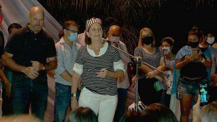 Fiel a su estilo provocador, la presienta del PRO Patricia Bullrich participó del acto contra Gildo Insfrán disfrazada de presa.