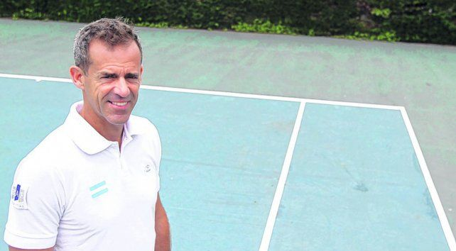 El capitán del equipo argentino de Copa Davis.