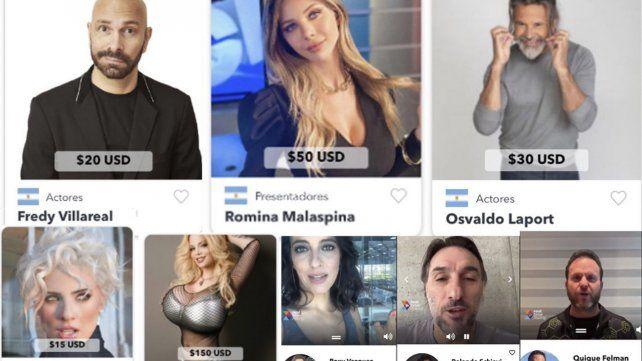 Polémica por una plataforma que cobra en dólares los mensajes de famosos