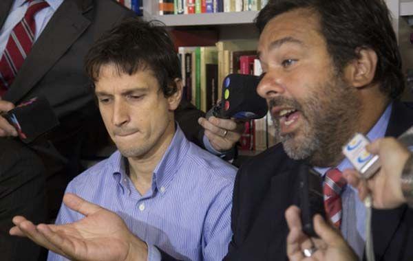 Lagomarsino junto a su abogado Maximiliano Rusconi.