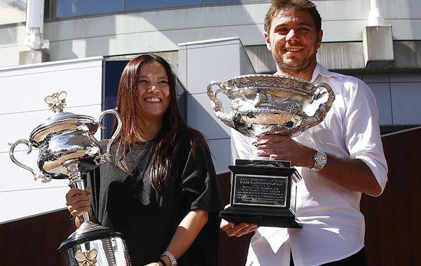 Defienden el título. Na Li y Stanislas Wawrinka se impusieron en 2014.
