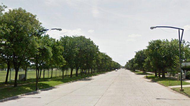 La calle de Roldán donde ocurrió el accidente.