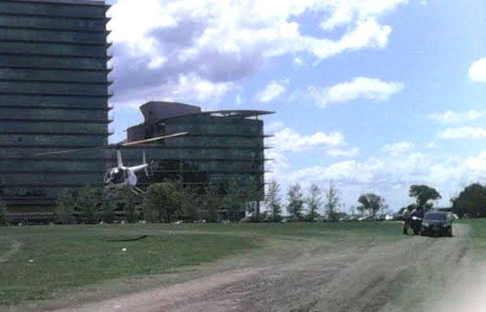 Puerto Norte. La máquina aterriza en una zona prohibida.