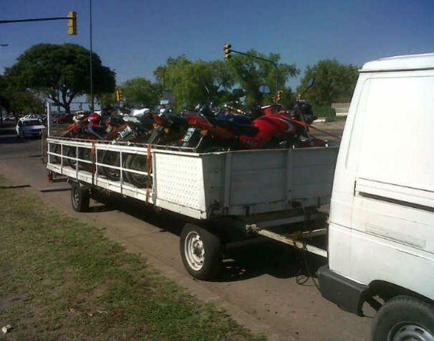 En falta. Las motos que no tenían los papeles en regla fueron incautadas.