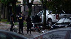 La camioneta y la moto, dos elementos esenciales en la secuencia de hechos que terminó con la muerte de dos personas.