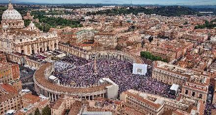 Un millón de peregrinos celebró la beatificación de Juan Pablo II en Roma