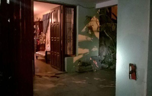 En la puerta. Muñoz fue asesinado cuando cerraba la puerta de su casa.