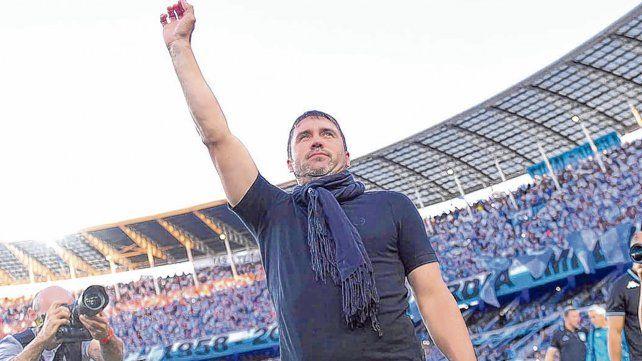 El gran hacedor. Eduardo Coudet fue el técnico que sacó campeón a la Academia de Avellaneda y se sacó la espina.