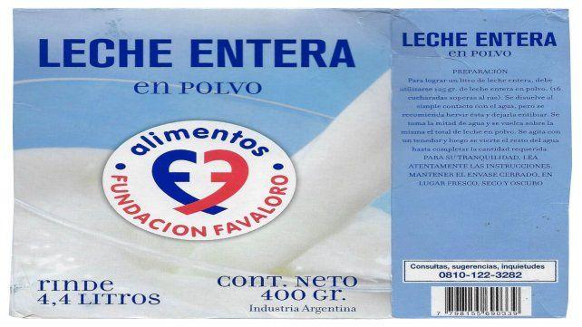 Prohíben en Santa Fe la venta de leche en polvo de la Fundación Favaloro