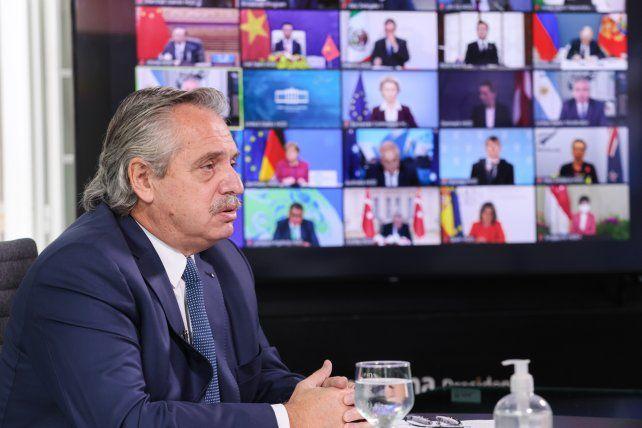 El presidente Alberto Fernández participó de manera virtual de la Cumbre de Líderes sobre el Clima.