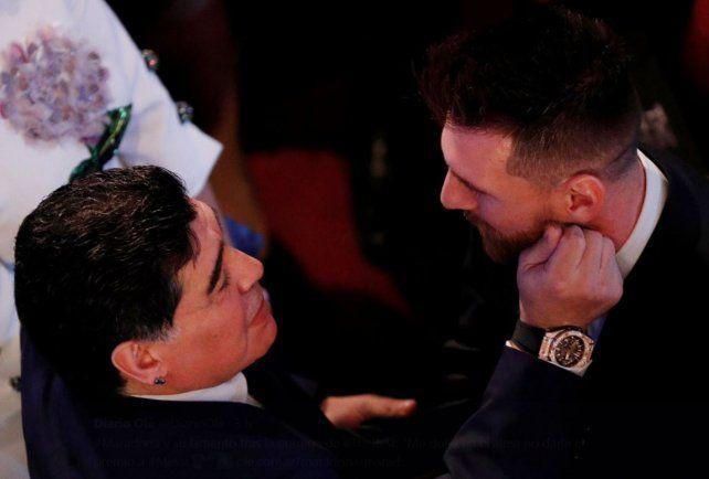 Qué le dijo Maradona a Messi cuando lo corrió en la segunda parte de la cumbre en The Best