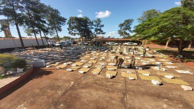 Decomiso. La droga era transportada en panes y el vehículo había ingresado desde Brasil por Corrientes.