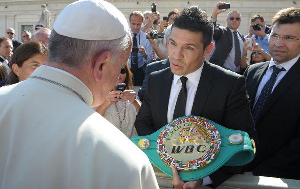 Encuentro del Papa Francisco con Sergio Maravilla Martínez.