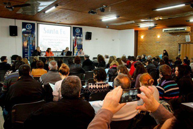 El auditorio de Sadop se llenó de docentes.