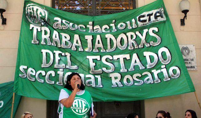 Los trabajadores municipales nucleados en ATE están de paro
