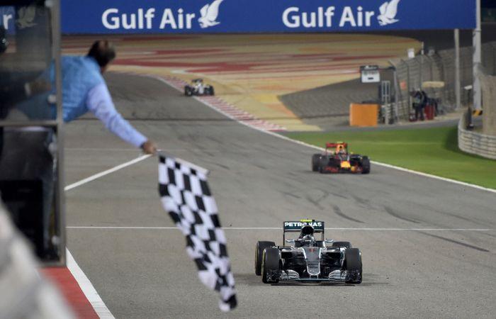 Apenas en los primeros metros de carrera Rosberg no estuvo al frente del clasificador. Después fue imbatible.