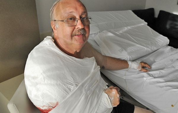 A salvo. Oscar González se recuperaba ayer de la herida de bala en la sala de un sanatorio del macrocentro.