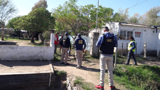 Un vecino de Rufino fue detenido y se le formó una causa por hurto de material para calles denominado rap.
