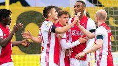 El Ajax festejó la mayor goleada de un equipo en la Liga de Fútbol de los Países Bajos.
