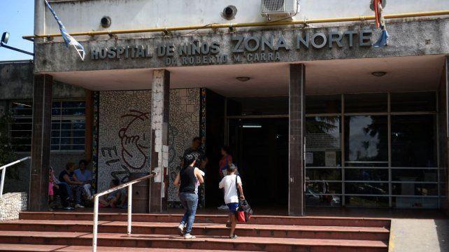 Dos adolescentes están internados en la UTI del Hospital de Niños Zona Norte.