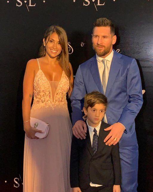 Messi estuvo en la renovación de votos de Luis Suárez en Punta del Este