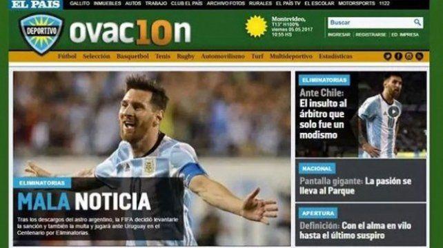 El País de Uruguay. Mala noticia