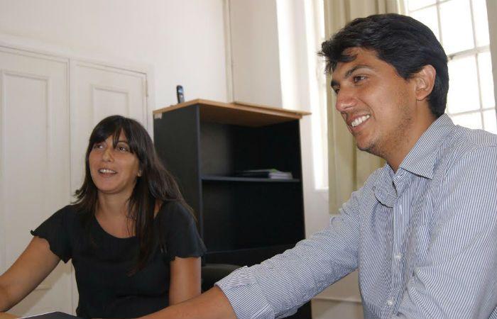 Referentes. Nicolás Gianelloni y Sabrina Arcamore