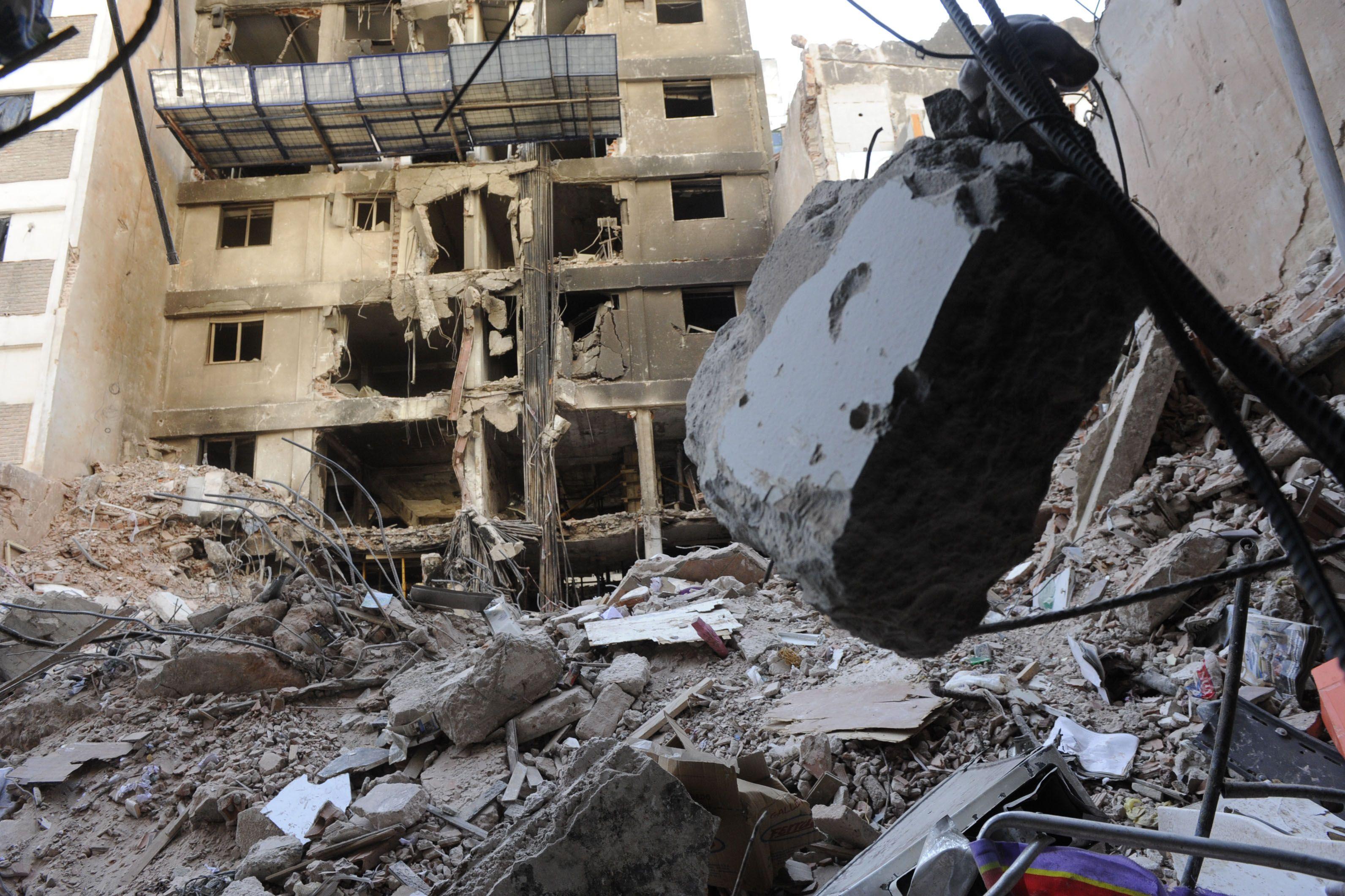 Las ruinas en Salta al 2100. En pocos días comenzarán las tareas de demolición.