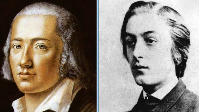 El gran poeta alemán Friedrich Hölderlin y Gerard Manley Hopkins