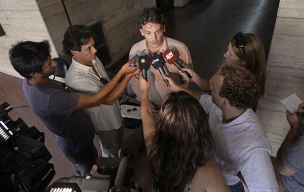 El fiscal de Homicidios Dolosos Ademar Bianchini participó de la audiencia imputativa de esta tarde. (Foto: Silvina Salinas)