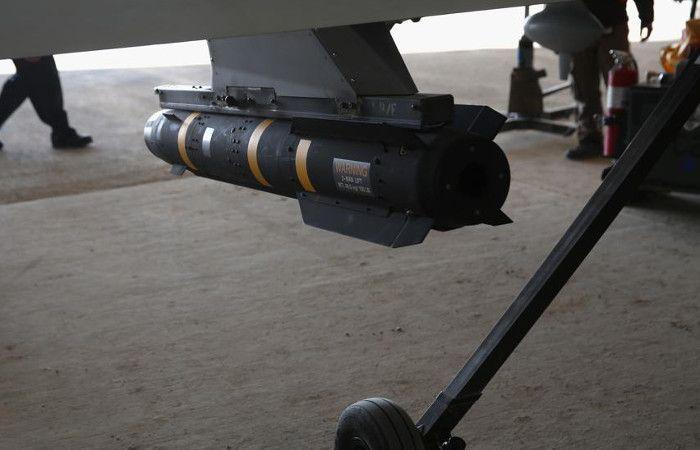 Un misil Hellfire en un caza de Estados Unidos MQ-1B Predator el 7 de enero en el Golfo Pérsico.