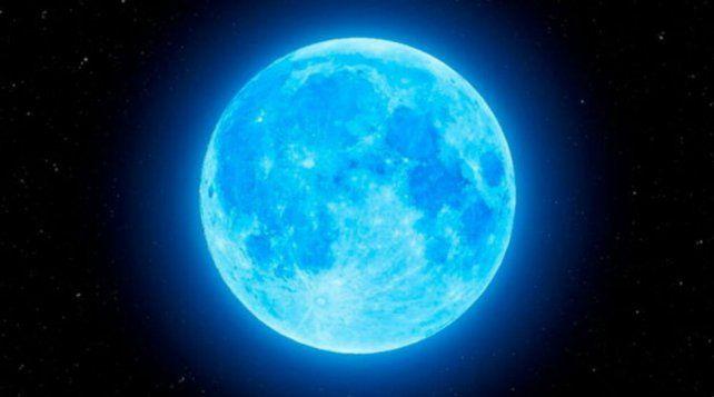 El sábado habrá una luna azul que se podrá observar casi en todo el mundo.