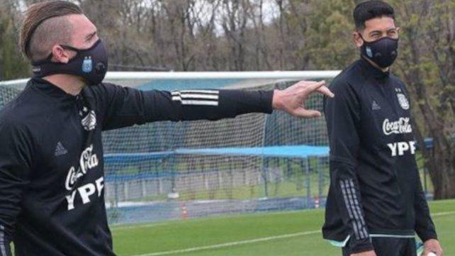 Armani y Andrada se movieron esta mañana bajo la supervisión del entrenador del puesto, Martín Tocalli.